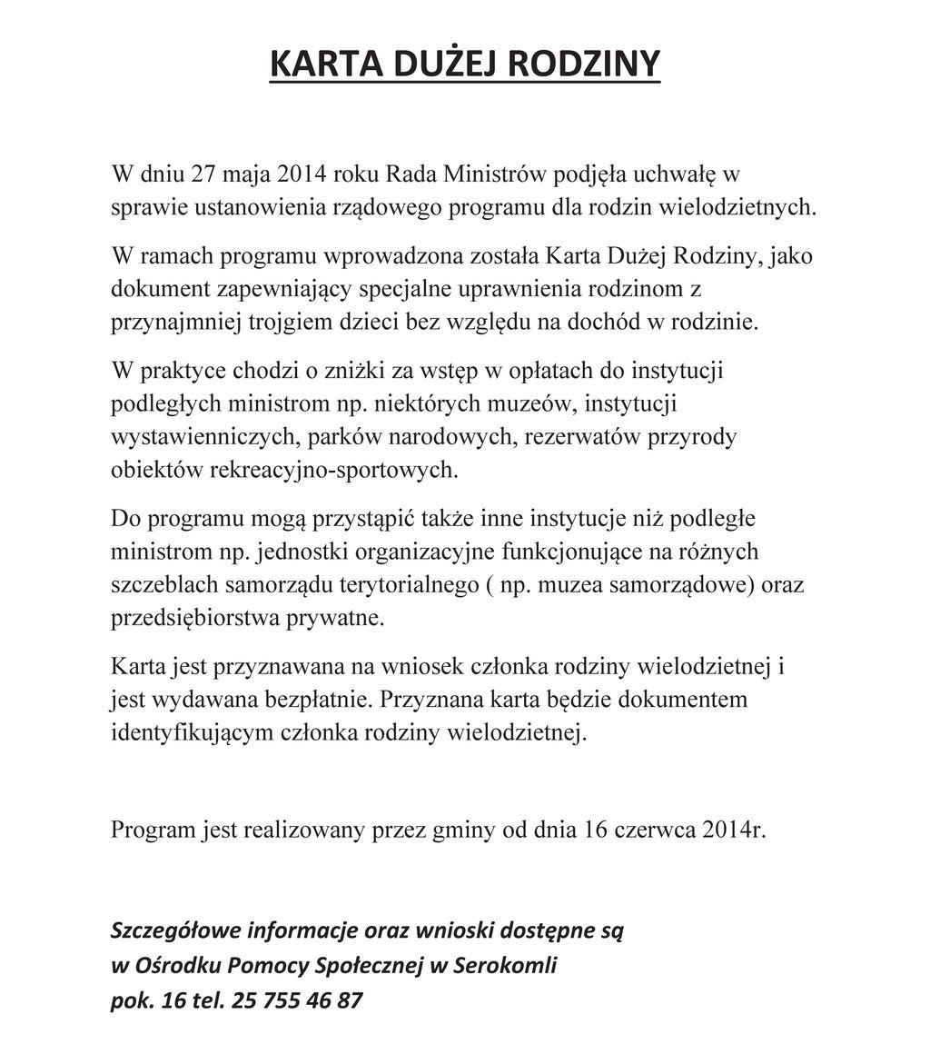Informacja o KDR